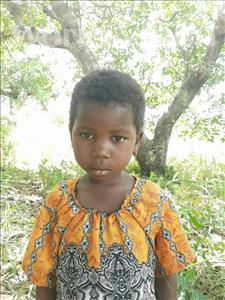 Estella Jonito Americo, aged 5, from Mozambique, is hoping for a World Vision sponsor