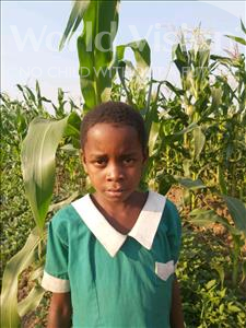 Evelesi, aged 7, from Malawi, is hoping for a World Vision sponsor