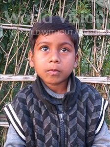 Choose a child to sponsor, like this little boy from Sarlahi, Arphaj age 6
