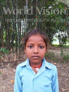 Choose a child to sponsor, like this little girl from Sarlahi, Karishma Kumari age 7
