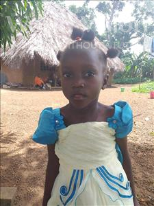 Yeanie, aged 5, from Sierra Leone, is hoping for a World Vision sponsor