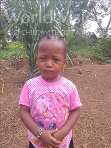 Choose a child to sponsor, like this little girl from Imperi, Yatta age 3