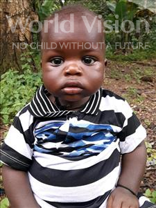 Choose a child to sponsor, like this little boy from Imperi, Gibelu age 2