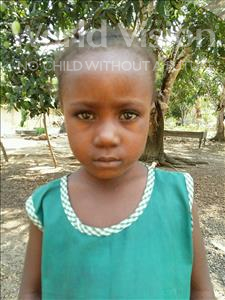 Choose a child to sponsor, like this little girl from Jaiama Bongor, Mariama age 7