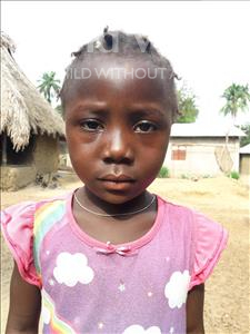 Choose a child to sponsor, like this little girl from Jaiama Bongor, Martha age 6