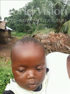 Choose a child to sponsor, like this little boy from Jaiama Bongor, Vandy age 2