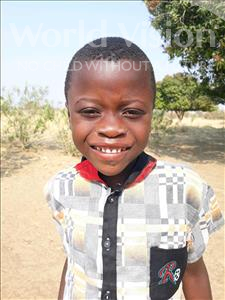 Choose a child to sponsor, like this little boy from Keembe, Astra age 7