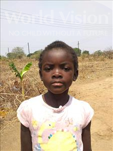 Choose a child to sponsor, like this little girl from Keembe, Dessy age 6